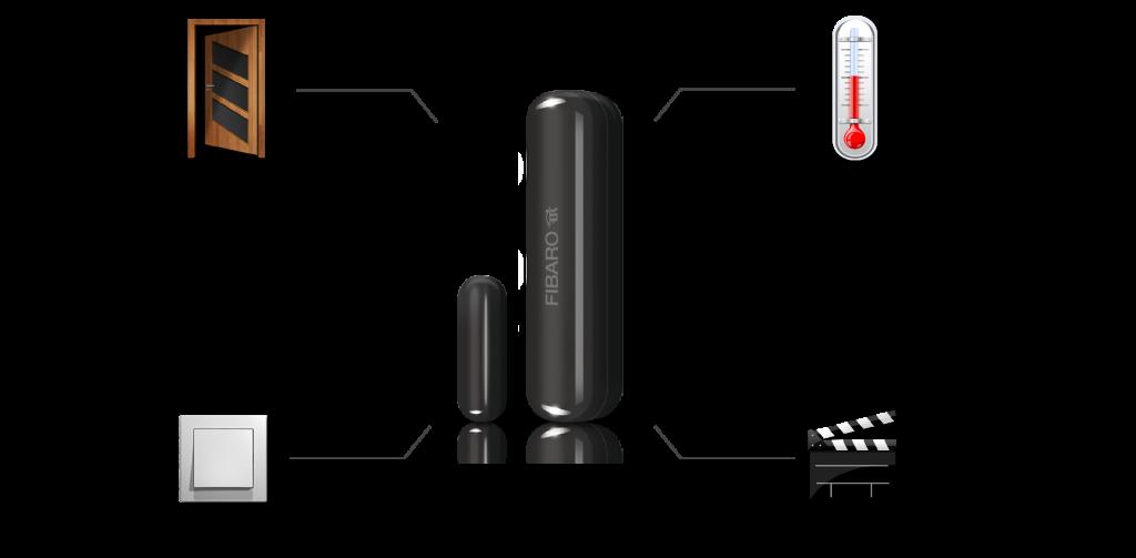 Detecteur magnetique d ouverture de portes et fenetres Fibaro, VIPelec installe les systèmes domotique smart home en Belgique, Wallonie et Bruxelles