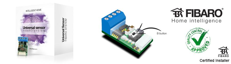 VIPelec est installateur des modules Universal Sensor FGBS-001 Fibaro en Belgique, Wallonie et Bruxelles